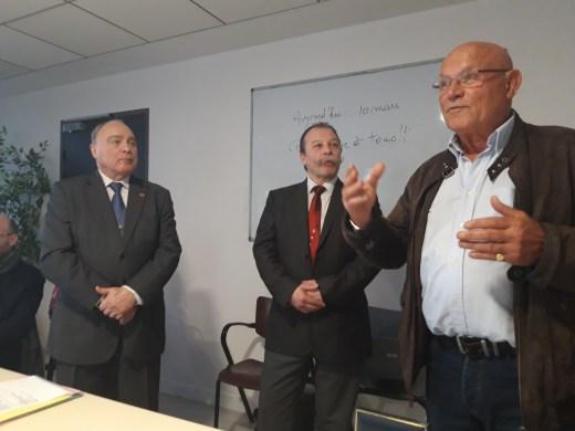 Michel GUENTLEUR, Eric MALASSIS, Jean-Claude TUVI - Photo Michel BOUDON