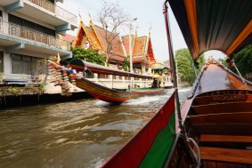 Long Boat Ride on the river in Bangkok