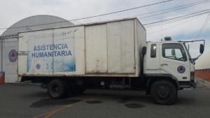 CONRED | Camión inicia a trasladar ayuda humanitaria a afectados en Poptún