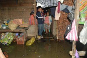CONRED | Viviendas afectadas por las inundaciones.