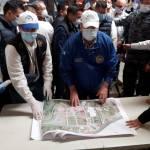 El alcalde Juan Fernando López -camisa blanca- expone las áreas de conforman Cefemerq en la zona 6 de Quetzaltenango. (Foto: Municipalidad de Quetzaltenango)