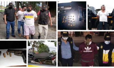 La Policía Nacional Civil -PNC-, informó en su reporte diario que 488 personas fueron detenidas por diferentes motivios. Además se incautaron armas y se recuperaron vehículos robados. (Foto: PNC)