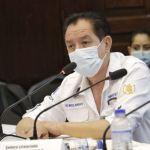 El viceministro de salud Miguel Borrayo, dio a conocer de los brotes del COVID-19 en los municipios del departamento de Guatemala. (Foto: Ministerio de Salud)
