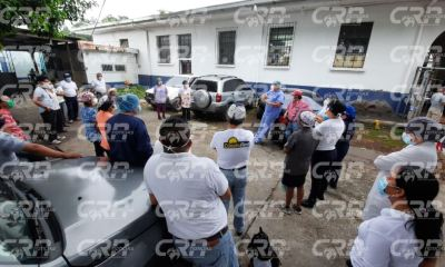 Los miembros del sindicato de trabajadores del Hospital de Mazate denunciaron la falta de apoyo de las autoridades de salud. (Foto: Cristian Soto)