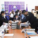 Las autoridades del PNC asistieron a una citación con los diputados de la bancada TODOS al Congreso de la República. (Foto: Todos)