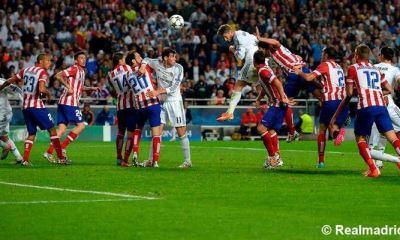 Sergio Ramos y Luka Modric recordaron la jugada del gol al minuto 93, para el empate del Real Madrid 1-1 contra el Atlético que forzó los tiempos extras en la final de la Champions. El cuadro merengue conseguiría la Décima más tarde con goles de Marcelo, Bale y Cristiano. (Foto: Real Madrid)