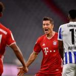 El Bayern Múnich derrotó al Hertha de Berlín con cuatro goles del delantero polaco Robert Lewandowski. (Foto: EFE)