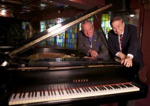 Richard Sherman and Milt Larsen at piano