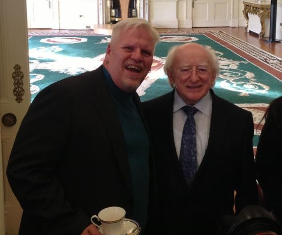 Karel had Tea with irish President Michael D. Higgins at Aras an Uachtarain (their White House)