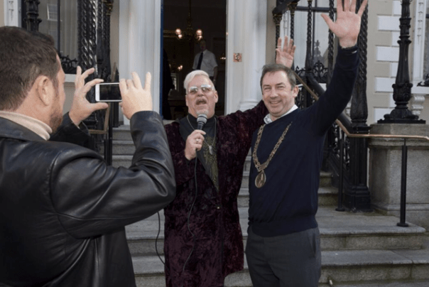 Karel interviewed the Lord Mayor of Dublin Oisin Quinn at his home, Mansion House