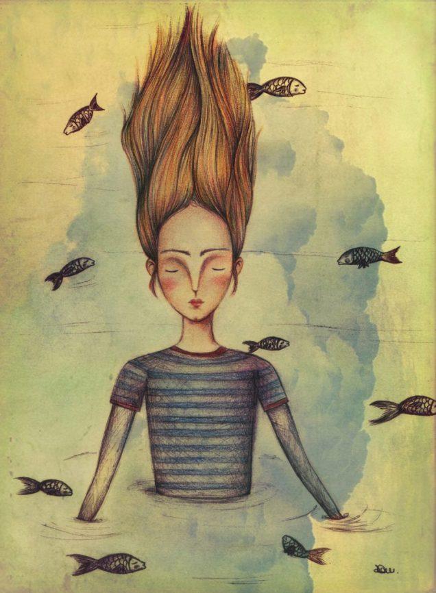 niña_peces
