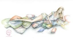gema mejias chica leyendo