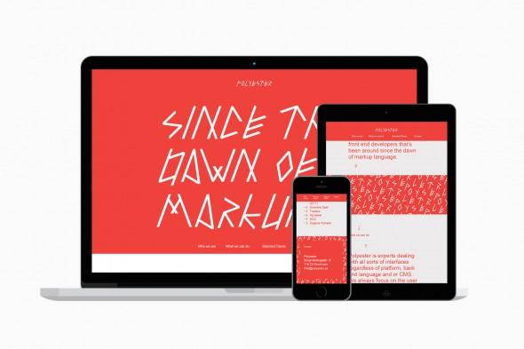 Página web diseño - Polyester por Sandra Almeida