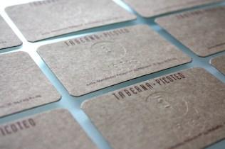 tarjeta visita feten gastrobar imagen identidad corporativa carton sello seco