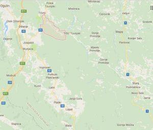 Područje Kamenice na kojemu je Božo Radanović iz Dicma 2. siječnja 1943. vidio navodni Francetićev grob