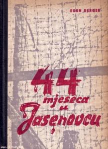 """Naslovnica knjige Egona Bergera """"44 mjeseca u Jasenovcu"""""""