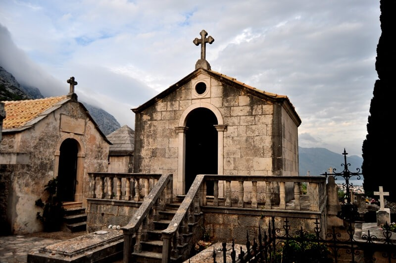 Captain's Cemetery in Orebic, Peljesac Peninsula