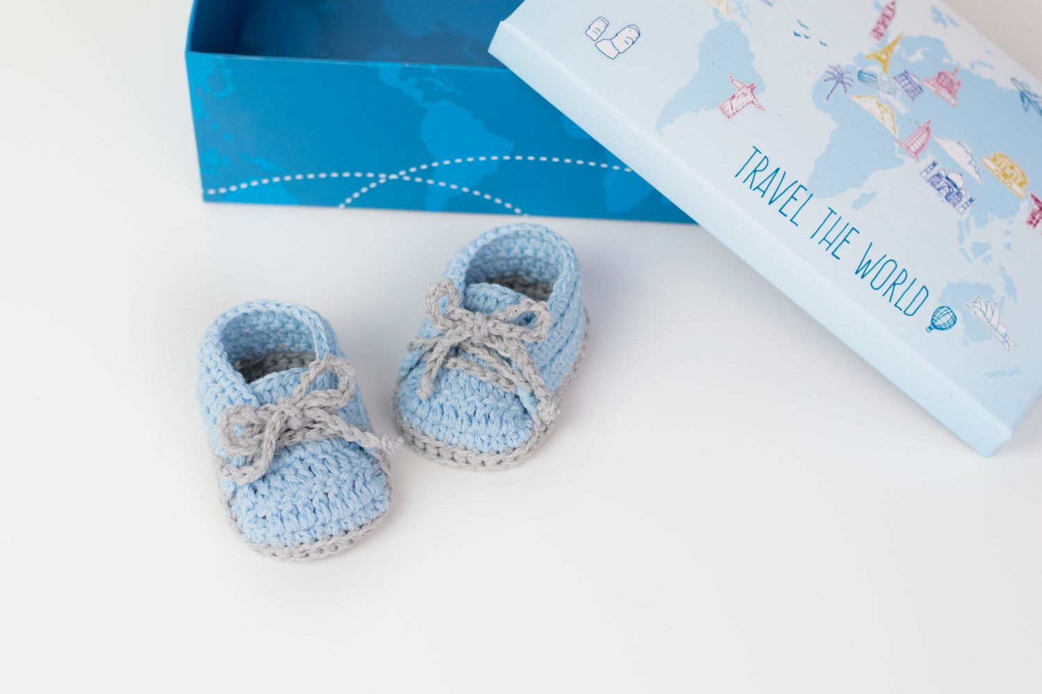Travel The World Crochet Baby Sneakers