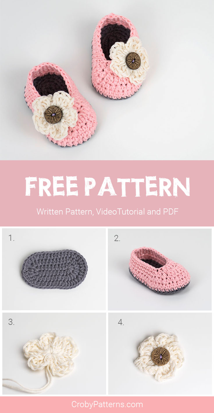 Cute And Easy Crochet baby Booties by Croby Patterns