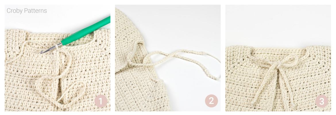 This is a crochet pattern for simple crochet cardigan for babies.