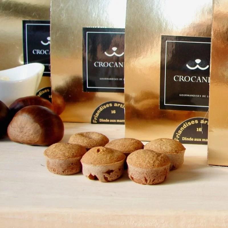 boite de biscuits naturels pour chien-recette de noël-dinde aux marrons-crocandiz.com