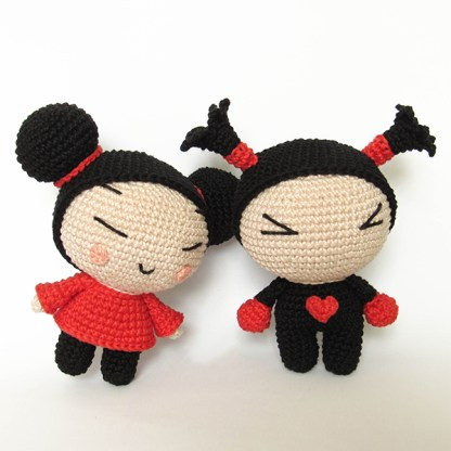 Toy Art Amigurumi Pucca e Garu - by Crochelandia