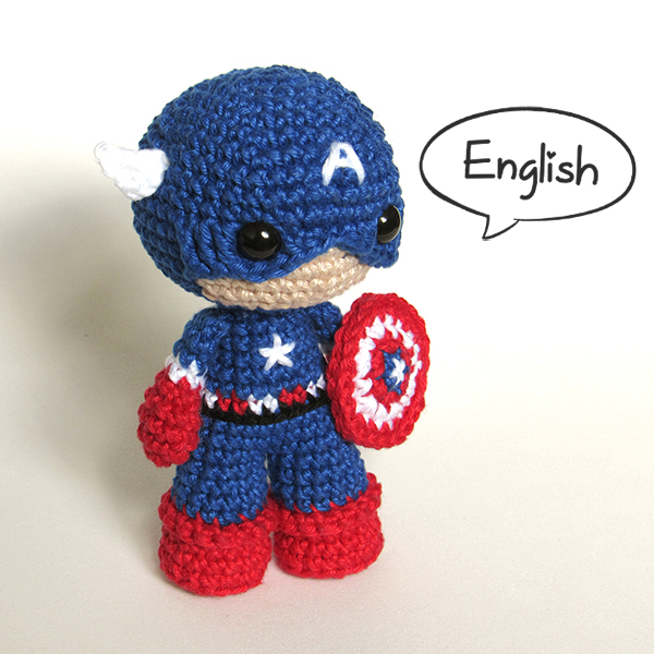 Toy Art Captain America - by Crochelandia