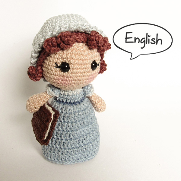 Toy Art Amigurumi Jane Austen - by Crochelandia