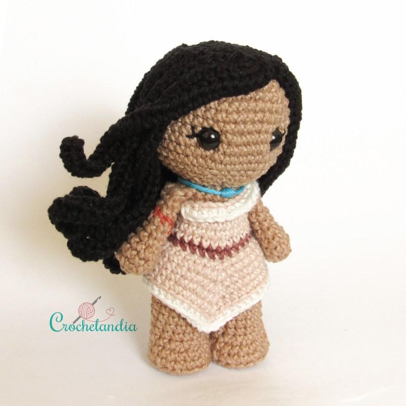 Toy Art Amigurumi Pocahontas - by Crochelandia