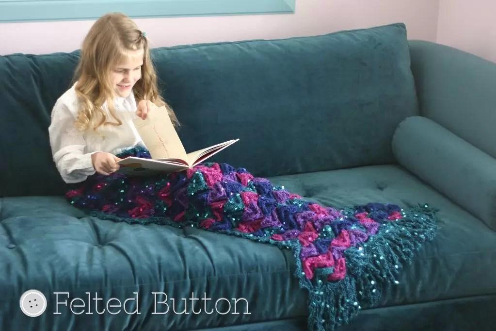 Crochet Blanket Patterns - Mermaid Tail Blanket