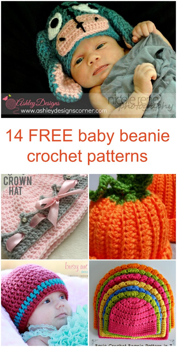 Free crochet patterns for some really cute baby beanie hats to crochet. I like the range of ideas here, something for everyone.