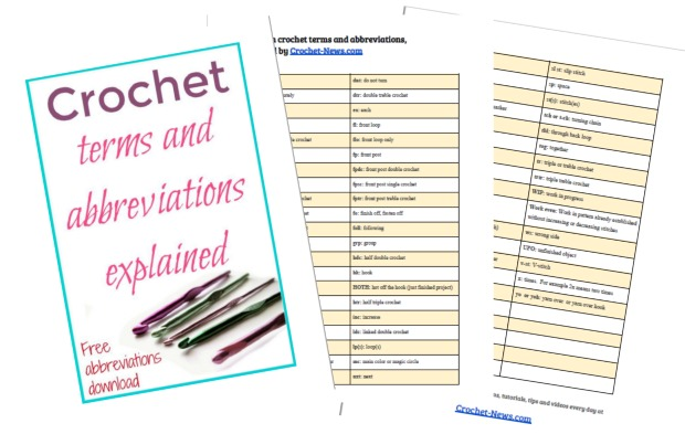 Downloadable sheet for all the common and not so common crochet terms and abbreviations. Now I can understand ALL my crochet patterns!