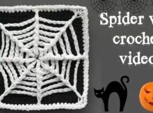 crochet spider web coaster