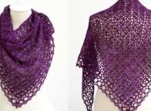 fortunes shawlette crochet pattern