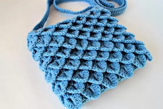 bag crocodile stitch crochet