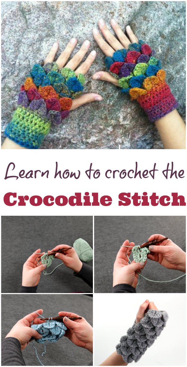Learn how to crochet the Crocodile stitch with this online video class. Lots of links to patterns to try as well.