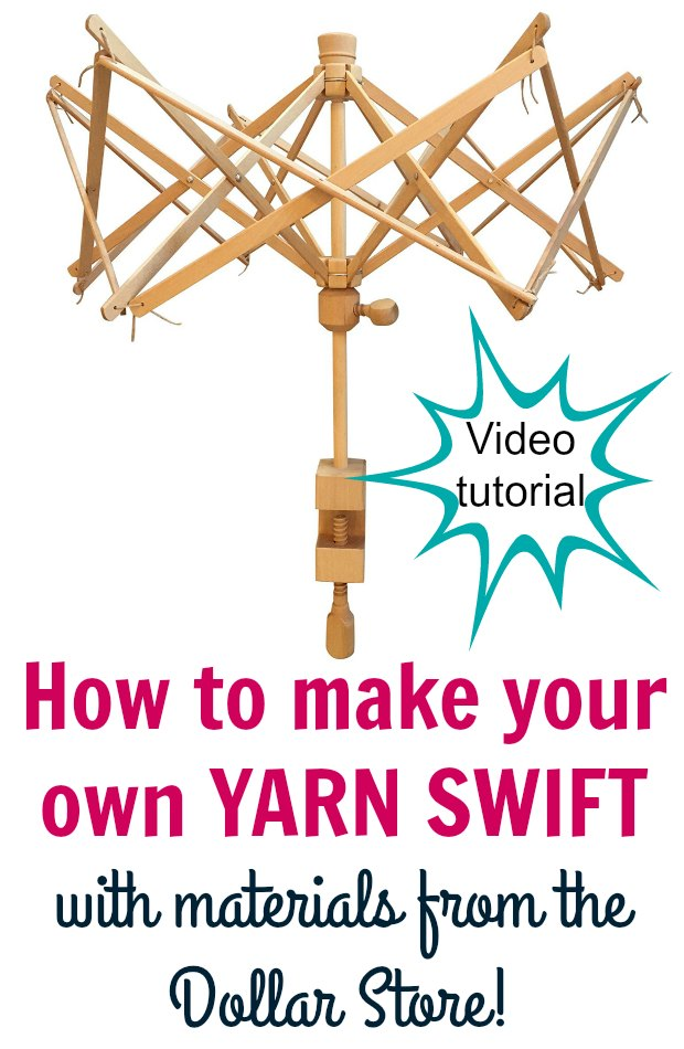 Video on how to make your own yarn swift using a couple of items from the Dollar Store