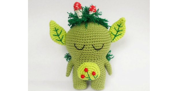 crochet toy forest spirit