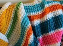 crochet baby blanket - waffle stitch crochet blanket pattern