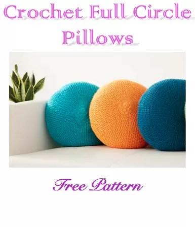 Crochet Full Circle Pillow Free Pattern