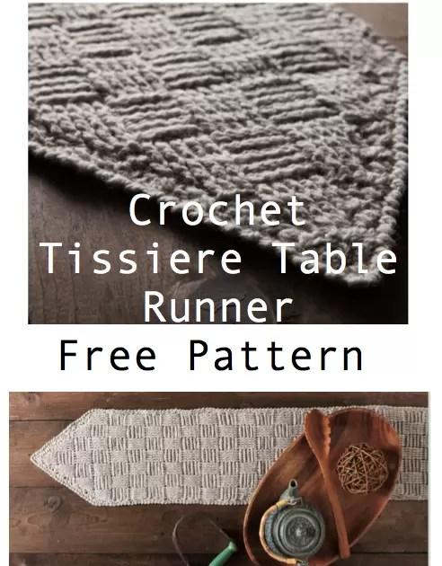 Table runner free crochet pattern crochet home decor