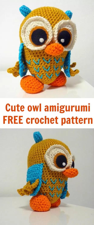 Free owl crochet pattern, amigurumi owl, crochet pattern free.