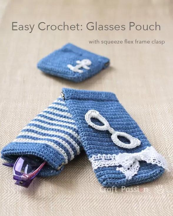 Crochet Flex Frame Glasses Pouch