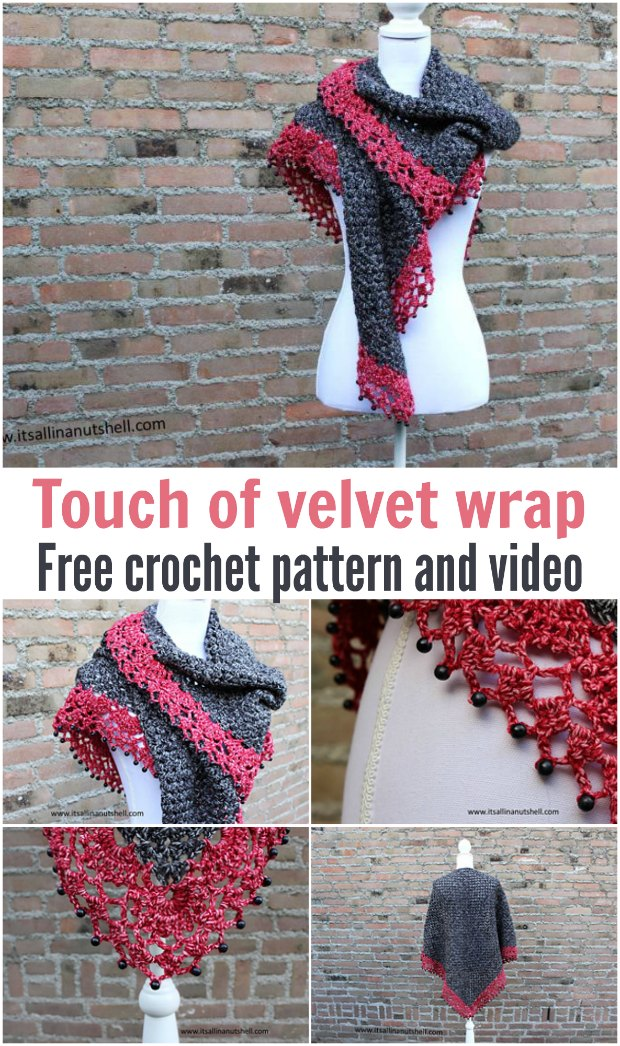 Gorgeous wrap free crochet pattern with video tutorial