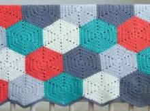 Crochet Afghan Blanket Hexagon Patterns - Crochet blanket patterns