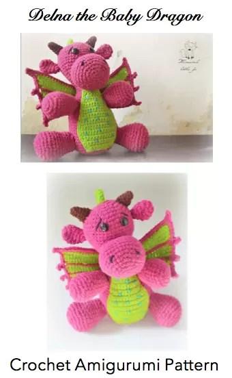 Delna the Baby Dragon Amigurumi Crochet Pattern