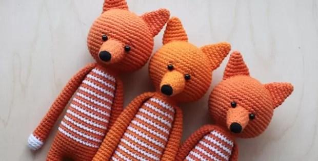 Log Legged Fox Amigurumi Free Crochet Pattern