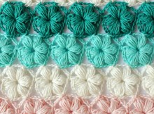 Puff Stitch Flower Pattern