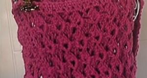 Chaleco tejido a crochet en una pieza