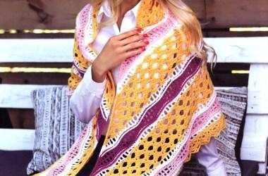 Esquema Chal a Crochet